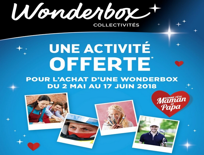 reduction wonderbox loisirs fete mere pere